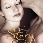 Book cover with a close-up picture of a white man kissing a white woman just above her closed eyes.