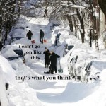 Beckett Quotes on Photos of Boston's Snow