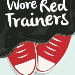 Red converse sneakers peek out from a black skirt, above is scrawled the title in white