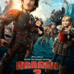 Hiccup stands bravely in front as other characters look toward him admiringly